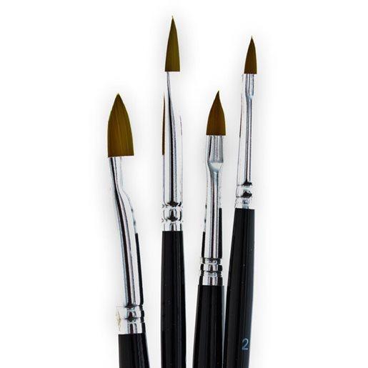 Syntetisk pensel 4-pack