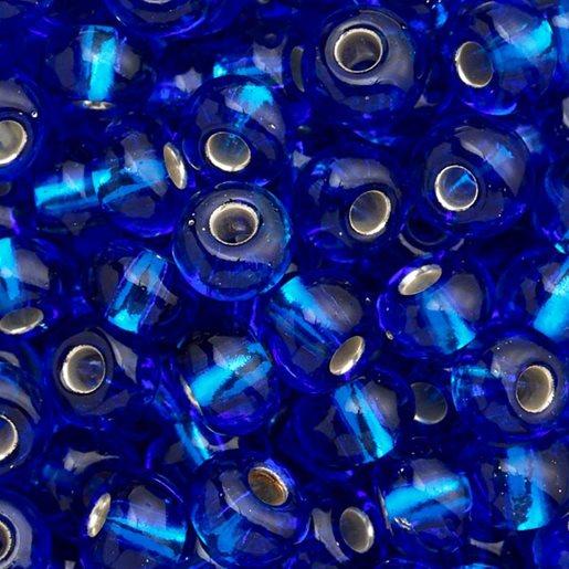 blå skimrende