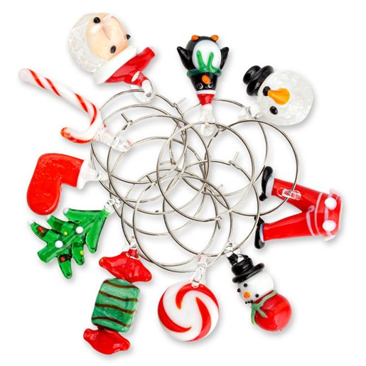 Glassmarkør julefigurer