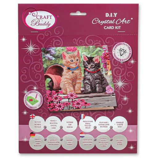 Crystal Card Kit Cat Friends