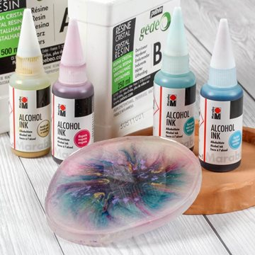 Alcohol Ink i resin